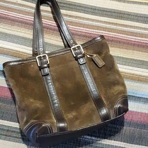 Vintage suede coach purse